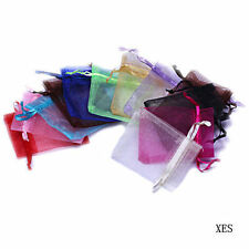 7X9cm Various Colors Sheer Organza Wedding Jewelry Favour Gift Candy Bag Pouches