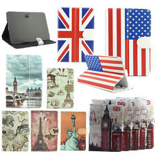 "Universal Aged Retro USA UK Flag PU Leather Case For Tablet 10.1"" 9.7"" 9"" 8"" 7"""