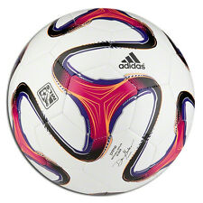 adidas WC World Cup 2014 Brazuca Gld Soccer Ball MLS Edition White - Fuschia