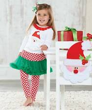 NWT Mud Pie SANTA STYLE Pettiskirt Set Outfit 9 12 18 M