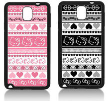 TRIBAL KITTY  SAMSUNG GALAXY NOTE 3 COVER CASE PINK HELLO AZTEC INDIAN
