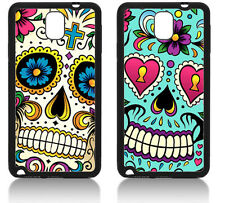 SUGAR SKULL SAMSUNG GALAXY NOTE 3 COVER CASE FLOWERS TATTOO MEXICAN DIAMONDS