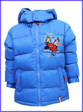 BRAND NEW BOYS BLUE OR NAVY SPIDERMAN WINTER PUFF COAT SIZE AGE 3, 4, 6, 8 YEARS