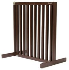 "Dynamic Accents 30"" Kensington Sliding Hardwood Dog Pet Gate Barrier Mahogany"