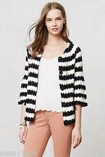 NEW Anthropologie Spike-Striped Cardigan By Monogram $148 Sz XS S Flared sleeves