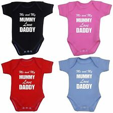 Baby Infant Clothes I Daddy Loves Mummy Bodysuit Vest One Piece Boys Girls Gifts