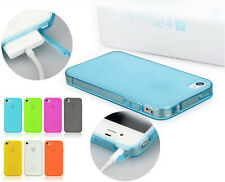 Ultra Slim Soft TPU Silicone Case Cover+FREE Screen Protector For iPhone 4 4S 4G