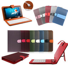 "New Leather Micro USB Keyboard Case Stand Cover for 7"" 9"" Android Tablet PDA MID"