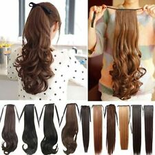 US ** Clip In Claw/ Drawstring Ponytail Pony Tail Hairpiece hair extensions Long