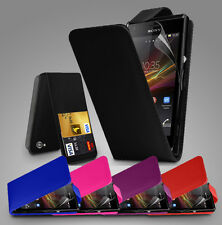 FLIP LEATHER SERIES CASE COVER SONY XPERIA M + SCREEN PROTECTOR