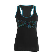 Zumba Life of the Party Black  Racerback Tank Tops All Size