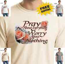 Religion Christian Pray About Everything Christ My God Jesus New Mens T Shirt
