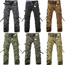 1X Casual Winter Men's Military Army Cargo Combat Work Pockets Pants Trousers