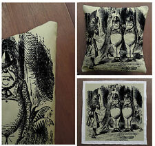 Alice In wonderland Tweedledee  -Cushion Fabric Panel Or Case or with Filling