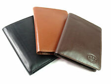 QUALITY LEATHER BOXED TRAVEL DOCUMENT PASSPORT/CREDIT CARD HOLDER WALLET W256