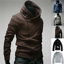 Fashion Men's Slim Fit Hoodies Jackets Casual Coats Tops Side Zip 5Color S-XL PJ
