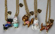 NWT Juicy Couture ASPCA ANIMAL CHARM PENDANT Gold Chain NECKLACES Dog Kitty