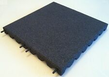 Grey - Rubber Playground Tiles / Mats - 50mm Thick - 1.7m Fall Height !