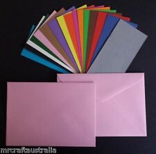 20 x C6 Size Envelopes(114x162mm) 120GSM Quality Envelope choose from 13 colours
