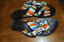 Womens Shoes Strappy Bright Colored Flip Flop Sandals GUPPY LOVE  6 6.5 7 8.5