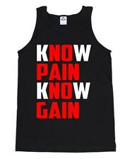 NO PAIN NO GAIN SQUATS GYM CROSSFIT TRAIN WORKOUT LIFTING RUNNING YOGA TANK TOP