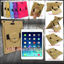 Leather 360 Multi-Angle Hand-Held Clip Cover Case Stand For Apple iPad Air
