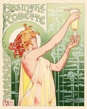 Absinthe Robette Drink VINTAGE ADVERTISING ENAMEL METAL TIN SIGN WALL PLAQUE