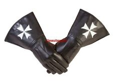 Knights of Malta Maltese Masonic Gauntlets in Real Leather