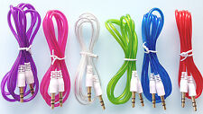 audio aux auxiliary 3.5mm jack male stereo iphone cable cord pc ipod car phone