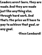 Vince Lombardi Quote Wall Decal | Football Home Decor 22x22"