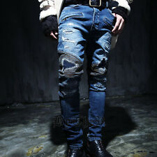 ByTheR Stitch Point Biker Denim Blue Trendy Pants Jeans SFSELFAA0017923