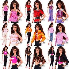 Wholesale 5 - 15 Lots New Top Barbie Clothes Dresses Outfit Fashionistas Doll