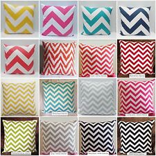 "Zigzag Chevron 20x20"" & 14x20"" Home Accent  Pillow Cover Case Lot s of Color"
