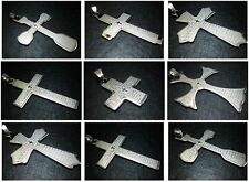 Unisex Mens Lord's Prayer in Holy Cross Stainless Steel Pendant Many Styles