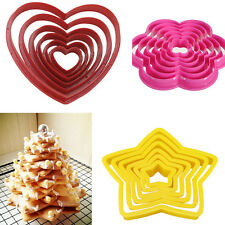 6Pcs Multi-style Cake Cookie Biscuit Cutter Stamp Mold Fondant Pastry Decorating
