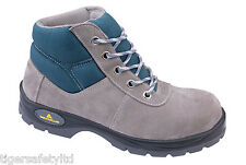 Delta Plus Panoply Voyager S1P Mens Grey Suede Safety Trainers Boots Footwear