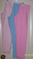 Girl's leggings by Jame pink blue size 6 8 10-12 14 16