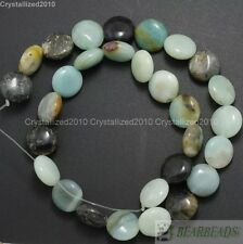 Natural Colorful Amazonite Gemstone Coin Loose Spacer Beads 14mm 15.5'' Strand