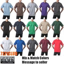 Lot 6 Bulk PROCLUB HEAVYWEIGHT T-SHIRT TALL Mens Plain Blank Wholesale LT - 5XLT