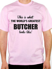WORLDS GREATEST BUTCHER - Meat / Carnivore / Fun / Novelty Themed Mens T-Shirt