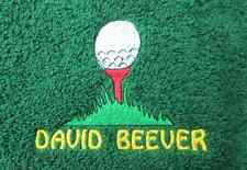 Golf Tee & Ball Embroidered Personalised Golf Towel