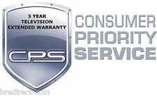 3 Year Television Extended Warranty - Consumer Priority Service - CPS