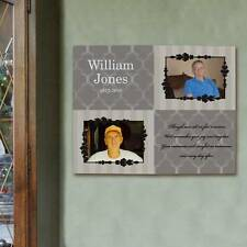 Personalized Photo Memorial Wall Canvas Custom Memorial Wall Art With Photos