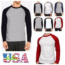 Long Sleeve S-2XL Plain BaseBall T-Shirts Raglan Jersey Vintage Tee New Men's