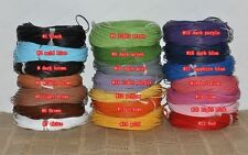 Genuine round Leather cord Cowhide Thread ( 1MM 1.5MM 2MM 3MM 20Colors)
