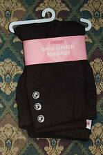 NWT GYMBOREE Leggings 7 Poppy Love Capri Black Bow, Pink Button Fall Homecoming