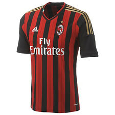 adidas AC Milan - Italy 2013 - 2014 Home Soccer Jersey Red / Black / Gold New