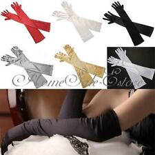 "22"" Women Arm Finger Elbow Gloves Party Bridal Wedding Opera Long Satin Evening"