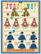 3357.How to Juggle.Juggling instruction POSTER.Home Room School Office art decor