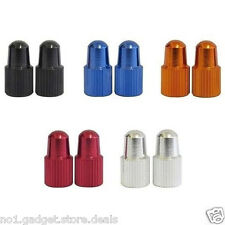 Presta High Pressure CNC Aluminium Valve Dustcap 2 Pack - 5 Colours